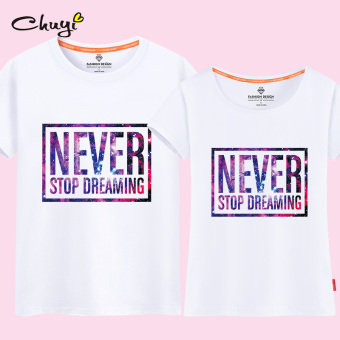 Couple's Short sleeve New style T-shirt (Pearl white (never)) (Pearl white (never))