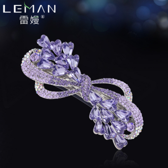 Crystal large floral headdress butterfly knot hairclip