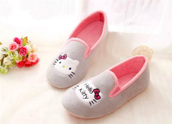 Cute women office shoes velvet shoes (39 + Kt cat gray)