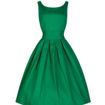Cyber Women Vintage Style Sleeveless Cocktail Ball Gown Dress (Green) - intl