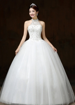 Harga Diamond wedding dress lace wedding gown - intl