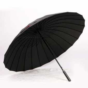 Double large wind bone Straight Shank umbrella (24 bone black) (24 bone black)