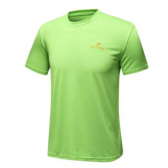 [Every day special] Summer New style outdoor short-sleevedquick-drying T-shirt men's Short sleeve quick-drying breathablesports T-shirt (Grass green color)