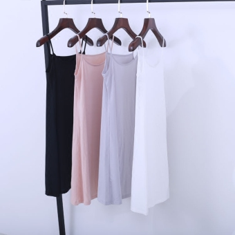 Harga Female Long section Slim fit package hip inside the ride summerwild in the slip dress (Beige)