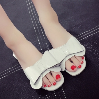 Female pointed outdoor wear slipper shoes sandals (Gray Cooljie 690022)