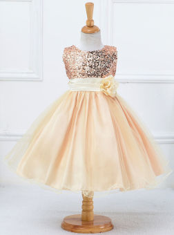 Flower Girl Kids Baby Xmas Bridesmaid Party Formal Sequin Ball GownDress 2-10Y - 3