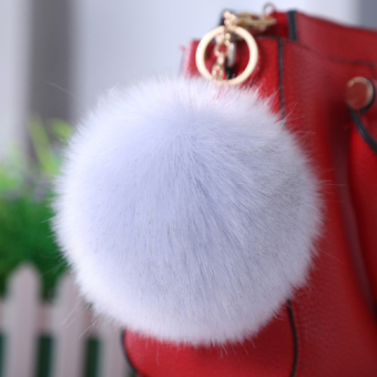 Fox imitation rabbit fur hair ball decoration ball (Silver Fox color)