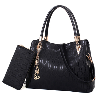 FOXER leather New style Shishang handbag brand women's bag (Midnight Black)