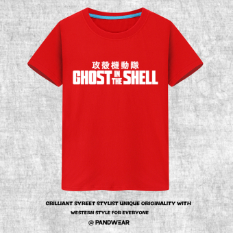 Ghost in the shell team short sleeved t-shirt (Red)