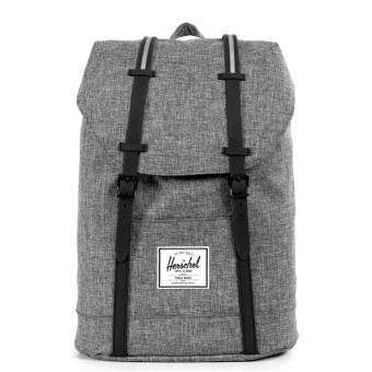 Harga Herschel Supply Co. Retreat Backpack - Charcoal Raven Crosshatch/Black Rubber