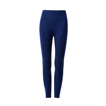 High-waisted compression yoga pants (Sapphire blue color)