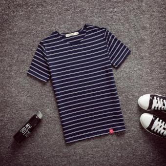 Small fresh cotton New style Slim fit Striped short-sleeved t-shirt