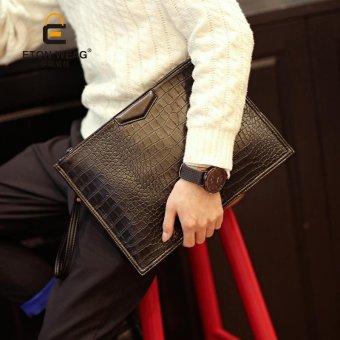 Harga Tidog The new hand bag men crocodile Handbag clutch bag - intl