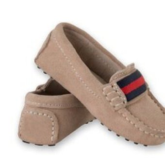 Harga Oscars Milan Toddler Leather Loafers (Beige)