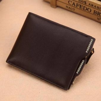 Harga smart wallet with coin compartment( horizontal brown )