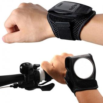Harga Bicycle Black Wristbands with Back wide-angle View Mirror. - intl