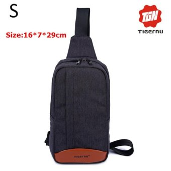 Harga Lan-store Premium Quality Chest Bag-2017 Tigernu Brand Messenger Bags Casual Men's Travel Bags Chest Bag Pack Small Crossbody Men Women Shoulder Bag (Black grey) - intl