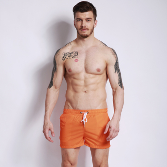 Harga Three points fashion solid color men sports running shorts