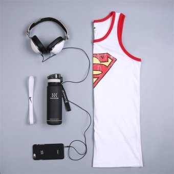Harga Superman vest sleeveless sports vest male summer wicking running jogging clothes breathable fitness sports vest (White)
