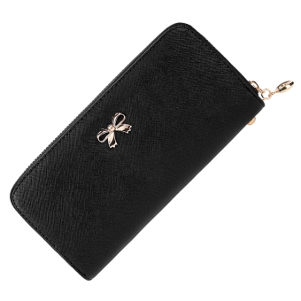 Harga JoIn Women Fashion Synthetic Leather Zip Around Solid Purse Credit ID Card Holder Long Clutch Wallet with Wrist Strap