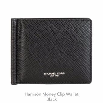 Harga MICHAEL KORS MONEY CLIP WALLET (BLACK)