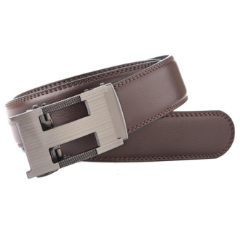 Harga Runda Century Fashionable Belt Men's Automatic Buckle Leather Belts(Coffee) - intl