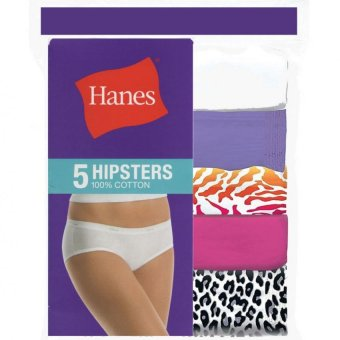 Harga Hanes Women Cotton Hipster Panties 5 piece pack (Assorted)