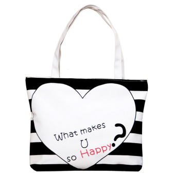Harga Trending Tote Bag - Happy