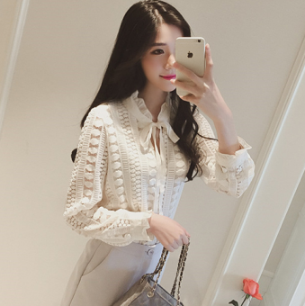 Korean New style loose Slimming effect lace Top