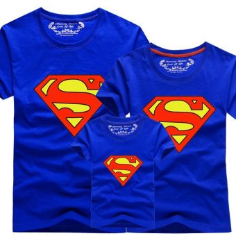 Harga Family Matching Clothes Christmas Outfit Mother Daughter Son Superman Men T-Shirts (Dad Blue) - intl