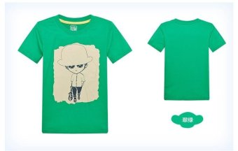 Harga Boys T-shirt Summer Kids T-shirts Boy T-shirts Children Tees Size Children Clothing Fashion Boys Print Child Shirts (Green) - intl