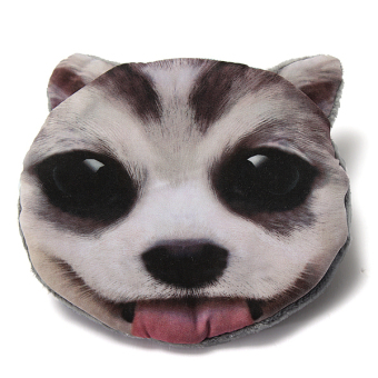 Harga Dog Cat Face Coin Change Zip Purse Pouch Pocket Mini Hand Bag Wallet husky - Intl