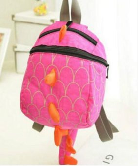 Harga Toddler Kid Cute Cartoon Backpack Animal Shaped Shoulder Book Bag Gift Dinosaur (pink) - intl