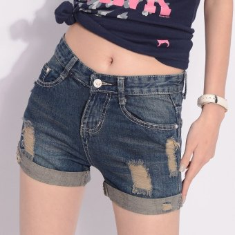 VICI New hole denim shorts in summer
