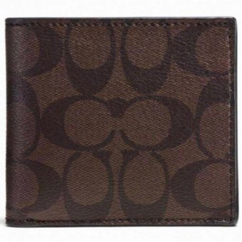 Harga Coach F75006 Signature Men's Coin Wallet (Brown)