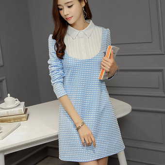 Harga Diana Korean-style color display thin long-sleeved dress
