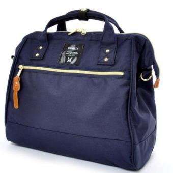 Harga Authentic Japan anello 2 way boston bag shoulder bag Japan hot selling (Large size, Navy color)