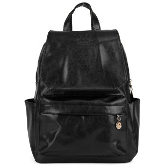 Harga OEM PU Leather Travel Backpacks Shoulder Bag 32x26 x15cm - Intl