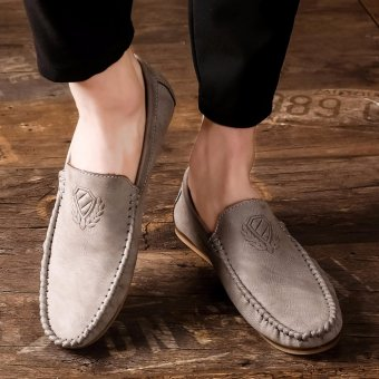 Harga Jarma man's loafers slip-Ons shoes driving shoes male shoes flat moccasin Tods (Grey) - intl