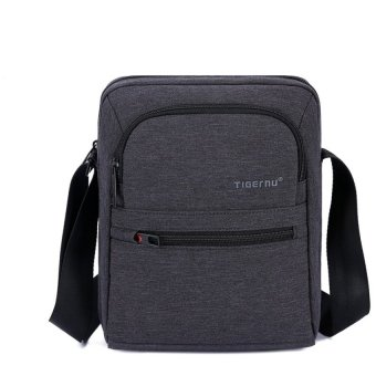 Harga 2017 Tigernu Men 's Waterproof Messenger BagTravel Shoulder Bag T-L5105(black) - intl