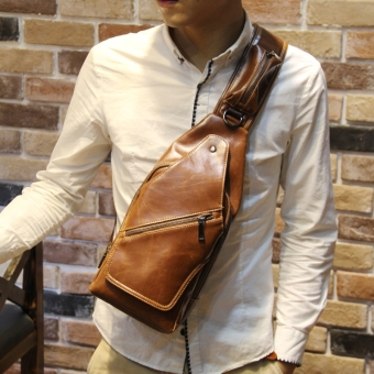 Harga Tidog New men chest packages fashionable men and women Han edition leisure men's bags - intl