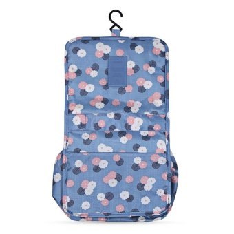 Harga H-Dwiss Large Capacity Floral Print Makeup Storage Toilet Bag - intl