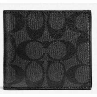 Harga Coach F75006 Signature Men's Coin Wallet (Black)