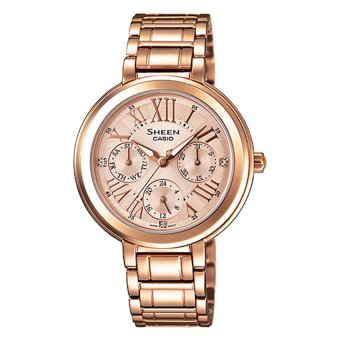 Casio Sheen Women's Rose Gold Stainless Steel Strap Watch SHE3034PG-9A