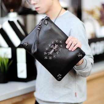 Harga Tidog Korean version of the hand bag fashion IPAD clutch bag - intl