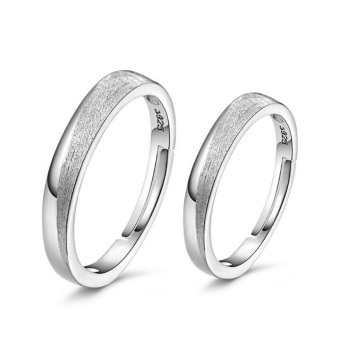 Harga Ansee 925 Sterling Classical Couple Rings (Silver)