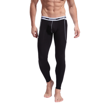 Harga WJ Winter Men's Long Johns Bamboo Fiber Natural Breathable Comfortable Underwear Nightwear(Coffee) - intl