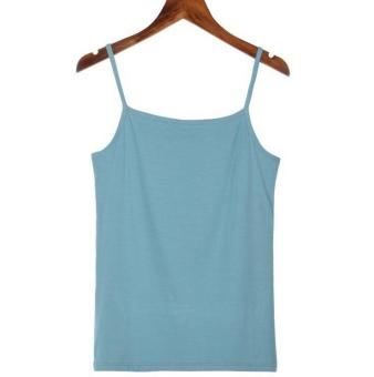 Harga Hely TOP Modal All-match Camisole Tank Top Undershirt(Aquamarine)