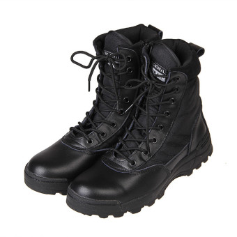 Harga 2015 NEW Tactical Army Mens Lace Up Shoes Sports Desert Ankle Boots Waterproof