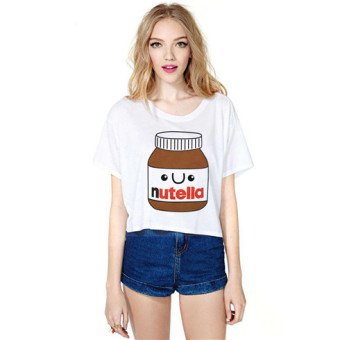 2015 summer new korean version of the simple sen female fashion short sleeve shirt female loose t-shirt printing in the bottle of medicine